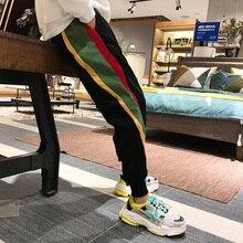 Hip-hop fashion brand pants men's Korean fashion pin ankle-length pants student casual all-match loo