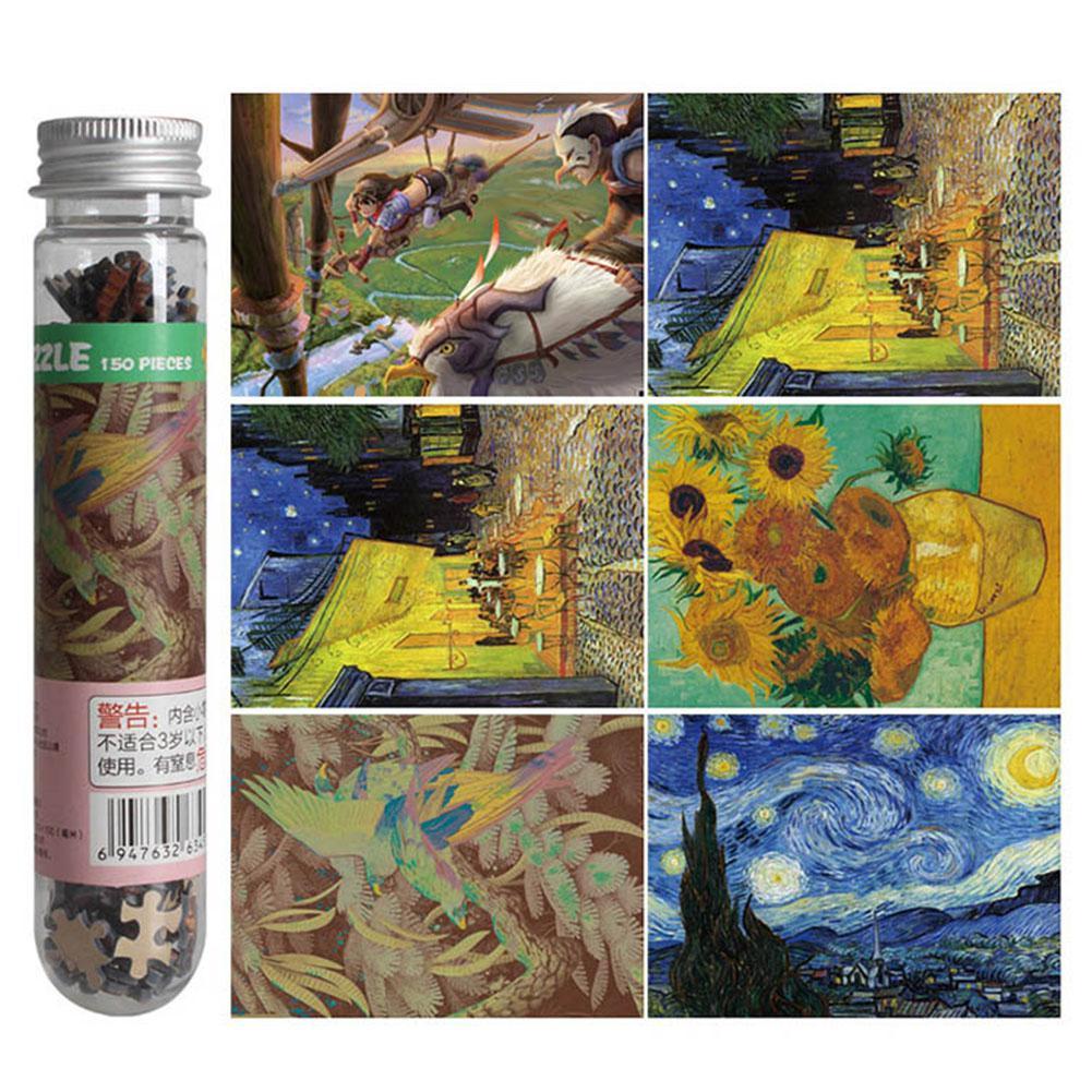 150pcs/set Famous Painting Puzzle For Adult Children Pressure Relief Mini Puzzle Toy