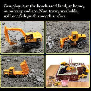 Image 5 - Coolplay mini liga diecast carro modelo de engenharia veículos de brinquedo caminhão basculante empilhadeira escavadeira modelo de carro mini presente para crianças meninos