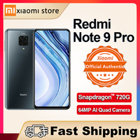 Versión Global Redmi Nota 9 Pro 6GB 64GB NFC Smartphone Xiaomi 64MP Quad Cámara Snapdragon 720G-pagar 2400x1080 30W QC 2020 de la UE