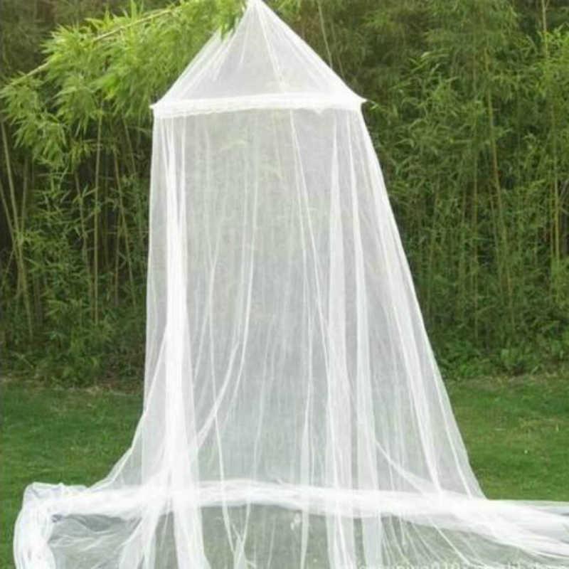 1PC 250*900*60Cm Elegan Round Renda Serangga Bed Kanopi Kelambu Tirai Dome Mosquito Net Nyamuk bar Tirai