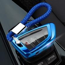 רכב מפתח מקרה כיסוי Fob חליפת עבור BMW 2 3 5 7 סדרת 6GT X1 X3 X5 X6 F45 F46 g20 G30 G32 G11 G12 F48 G01 F15 F85 F16 F86 Keychain