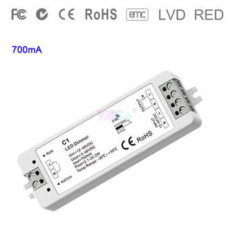 C1 single color Constant Current led Controller 1CH*350mA/700mA Push Dim DC 12V-48V input Dimming single color Receiver - DISCOUNT ITEM  25% OFF All Category