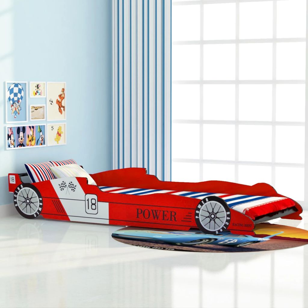 VidaXL Children's Race Car Bed 90x200 Cm Red