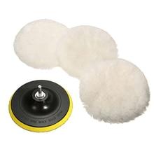 5Pcs Universal Polisher Buffer kit 3/4 Inch Soft Wool Bonnet Pad White Car Polisher Car Body Polishing Discs Accessories Goods