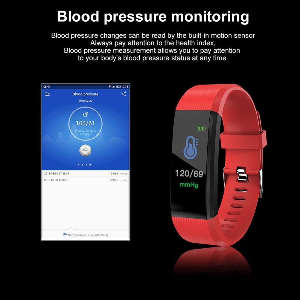 Hb1e2b88a2e68419eb8038c70455fcffcE VIKEFON Smart Bracelet id115 plus Color Screen Sport Pedometer Watch Smartband Fitness Traker Bluetooth Waterproof Smart Band
