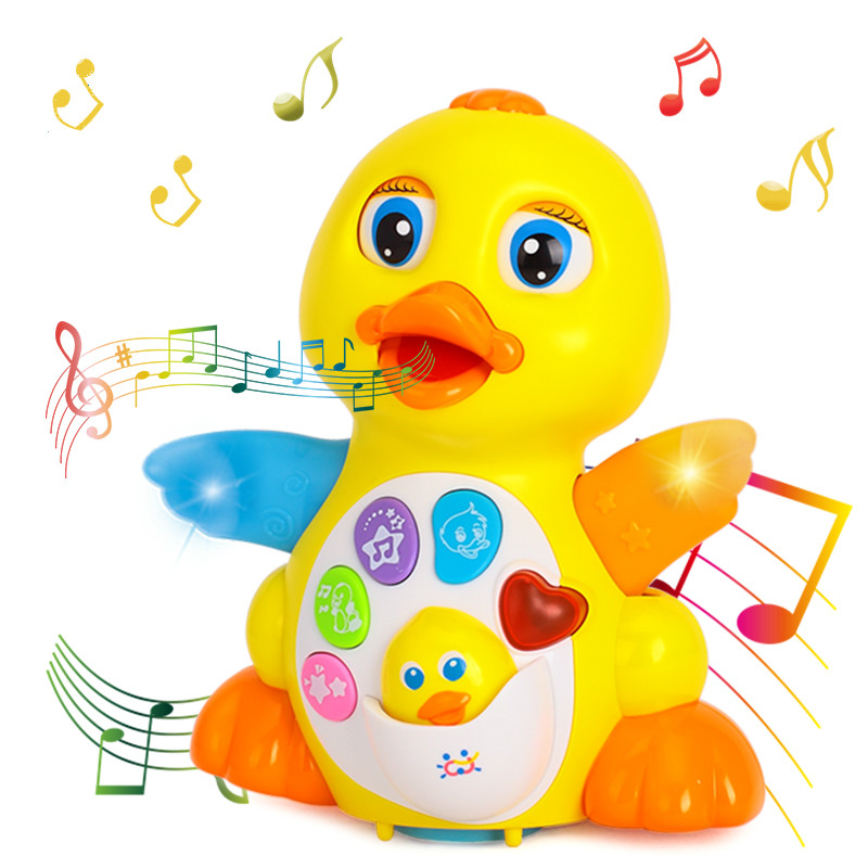 Dancing & Singing Duck Toy Intellectual Musical And Learning Educational Toy Best Gift For 1 2 3 Year Old Boys And Girls Infant