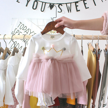 Cute Baby Girl Clothes Winter Long Sleeve Princess Tutu Dresses Infant Baby Wedding Party Dress Baby Christmas Clothing long sleeve baby girl dress newborn princess infant baby girl clothes mesh tutu ball gown party dresses little girls clothes