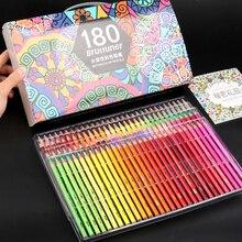 Brutfuner72/120/150/180 수채화 전문 컬러 연필 세트 아티스트 페인팅 스케치 우드 컬러 연필 학교 용품