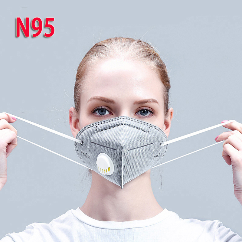 Reusable N95 Mask - Valved Face Mask KN95 Protection Face Mask FFP3 FFP2 FFP1 Mouth Cover Pm2.5 Dust Masks 6 Layers Filter TSLM2
