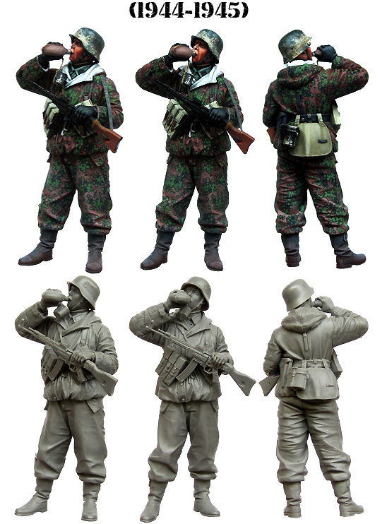 1:35 Drinking Water Soldier WW2