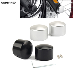 Motorcycle Front Axle Nut Cover Caps Bolt Aluminum For Harley Touring Electra Glide Dyna Street Bob Fat Bob Sportster XL Softail