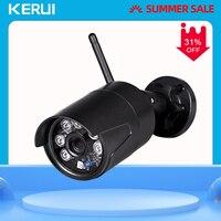 KERUI IP كاميرا واي فاي في الهواء الطلق مقاوم للماء كاميرا مراقبة للمنزل اللاسلكية 1080p HD دعم ONVIF للرؤية الليلية نظام المراقبة