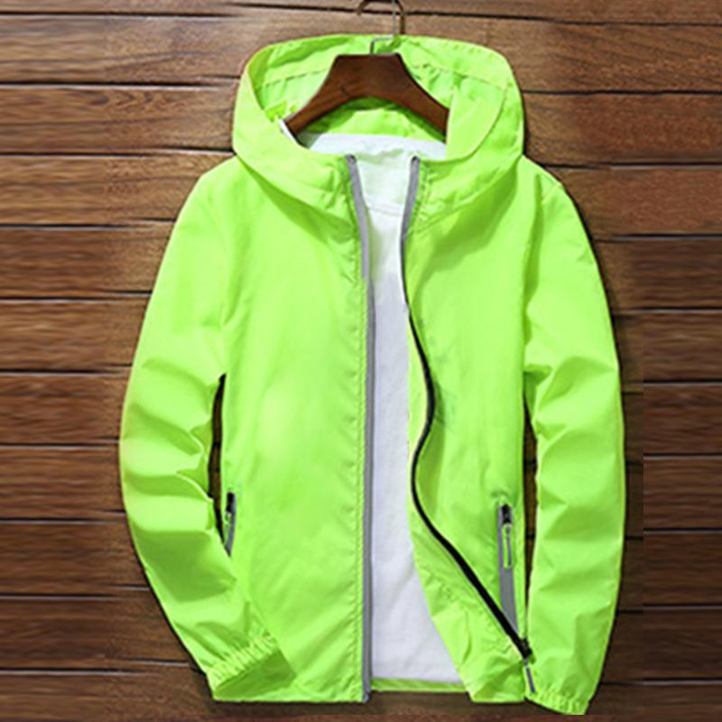 Sport Outdoor Cycling Thin Coat Jackets Man Casual Loose Men's Windbreakers Jacket Male's Waterproof Candy-Colored Outwear Q6128