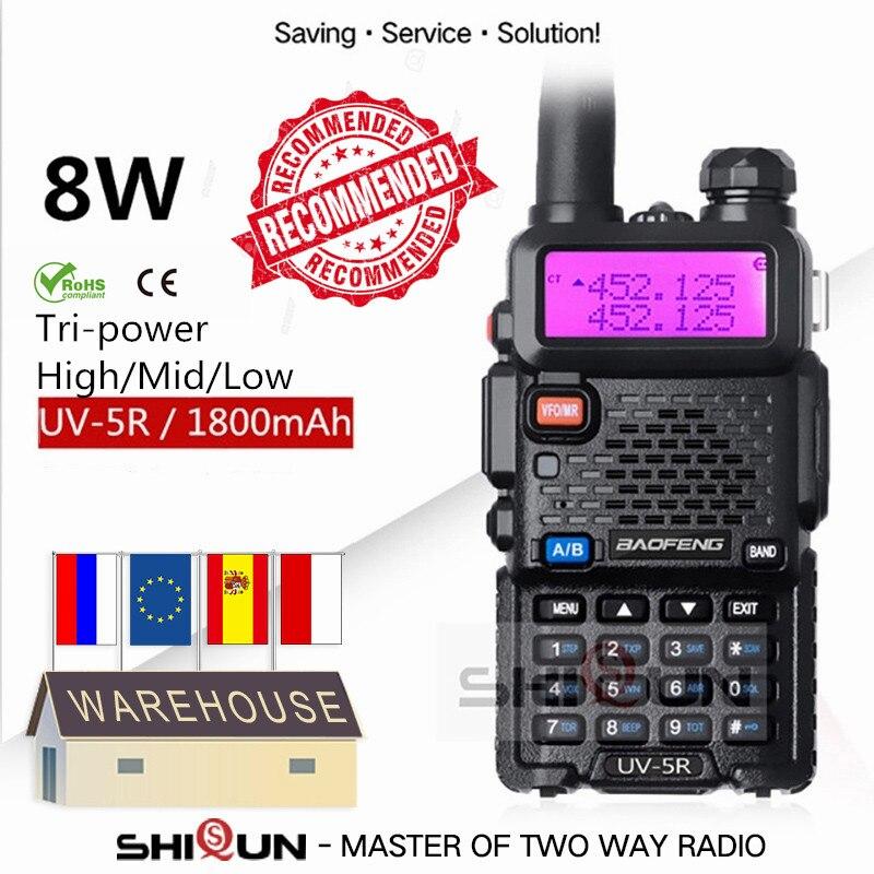 """Дополнительно 5 Вт 8 Вт UV-5R иди и болтай Walkie Talkie """"иди и 10 км Baofeng uv5r рация Охота радио uv 5r Baofeng UV-9R UV-82 UV-8HX UV-XR"""