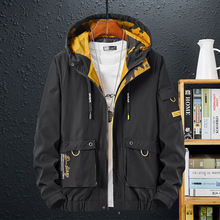 2021 New Trench Black Green Men'S Overcoat Casual Windbreakers Fashion Spring Oversized 6XL 7XL 8XL 9XL Autumn Jackets Clothes
