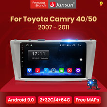 Junsun V1 Android 9.0 2G+32G DSP Car Radio Multimedia Video Player Navigation GPS 2 din For Toyota Camry 40 50 2007 2008 no dvd(China)