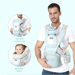 Viciviya ergonômico portador de bebê mochila respirável infantil hipseat canguru estilingue portador envoltório para o bebê viagem 0-24 meses