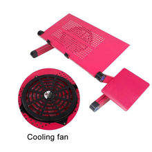 Adjustable Notebook Computer Table Aluminum Alloy Folding Bracket Tablet Computer Notebook Computer Table With Cooling Fan