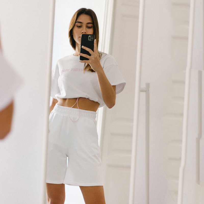 ZA 2020 Solid Color Short Pants Trousers Vintage Style Elastic Waist Ladies Pants Femme