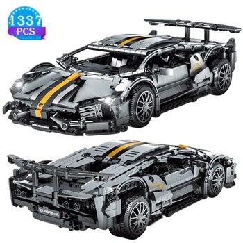 Bloques de construcción de automóviles Technic Creator Speed Champion para niños, supercoche en miniatura, juguetes de ensamblaje, regalos de cumpleaños para novio