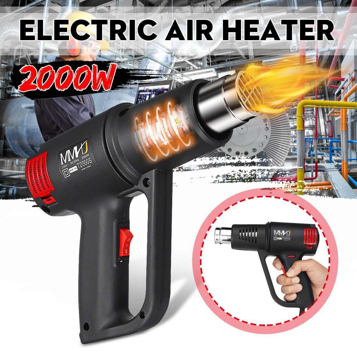 2000W 220V électrique chaud Air chauffage Machine contrôle de température bâtiment sèche-cheveux peinture décapant chaud sec colle bricolage pouvoirs outils