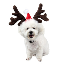 Dog-Accessories Dogs-Hats Holiday-Supplies Christmas Cats Small for Short Antlers Pet