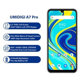 Перейти на Алиэкспресс и купить UMIDIGI A7 Pro смартфон с 5,5-дюймовым дисплеем, восьмиядерным процессором, ОЗУ 64 ГБ, ПЗУ 6,3 ГБ, Android 10