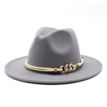Black/white Wide Brim Simple Church Derby Top Hat Panama Solid Felt Fedoras Hat for Men Women artificial wool Blend Jazz Cap 13