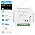 Умный модуль переключателя с Wi-Fi, 1 клавиша/2 клавиши, два канала, 10 А, 2300 Вт, приложение Tuya Smart Life, дистанционное управление, таймер с управлени...