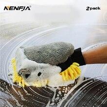 2 шт мойка для мытья автомобиля из микрофибры, водостойкая перчатка, полировальная Перчатка из синели, автомобильная Чистящая деталь, восковая принадлежность щетки