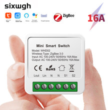 SIXWGH Tuya Zigbee Smart Home Automation Switch Works With Smart Gateway supports Google Home Alexa Voice control APP Timing
