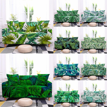 1/2/3/4 Seater Tropical Leaves Elastic Sofa Cover Stretch Couch Slipcover Living Room Sectional Case Sofa Furniture Protector 1