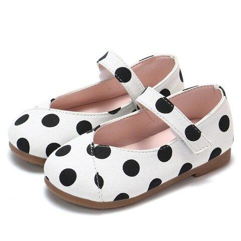 moda princesa meninas sapatos criancas casuais lona sapatos primavera outono criancas sola macia dot impressao