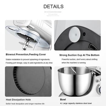 6 Vitesse Pâte Mélangeur à Main Batteur à Oeufs Mélangeur Alimentaire Multifonction Robot Culinaire Ultra Puissance électrique Mélangeur De Cuisine