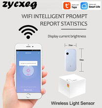 WIFI Drahtlose licht sensor Automatische intelligente bedienung Helligkeit detectionAl verknüpfung ausführung Tuya APP Control Smarthome
