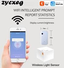 WIFI capteur de lumière sans fil automatique opération intelligente luminosité detectionAl tringlerie exécution Tuya APP contrôle Smarthome