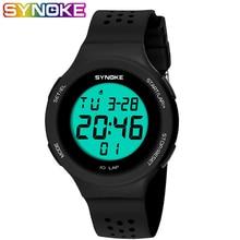 SYNOKE Ultrathin Unisex Electronic LED Digital Sports Waterproof Women Men Watch Mens Dive 50m Military Sports Watches reloj