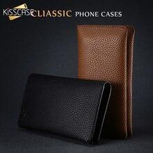 KISSCASE جراب هاتف خلوي جلدي عالمي لهاتف Huawei P20 ، P30 Lite ، iPhone 7 ، 8 ، 6 ، 6s Plus ، Xiaomi Redmi Note 7 ، Samsung S10 ، S9 ، S8