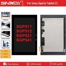 Dla Sony Xperia Z2 Tablet ekran LCD SGP511 SGP512 SGP521 SGP541 wyświetlacz LCD ekran dotykowy Panel szkło Digitizer montaż monitora