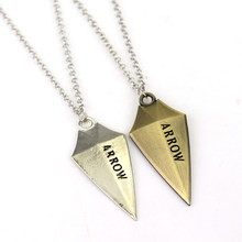 DC Comics Superhero Green Arrow Necklace You Have Failed This City Pendant Arrowhead Choker Jewelry Marvel Fan Cosplay Accessory(China)