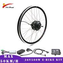 Kit de Conversion EBike 36V 500W vélo électrique Max 50 km/h moteur de moyeu 20 26 27.5 700C avant arrière moteur roue pour la livraison gratuite