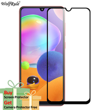 2Pcs Screen Protector For Samsung Galaxy A31 Tempered Glass HD Full Glue Cover Protective Phone Film For Samsung A31 Glass 6.4'' 2pcs lot 9d full glue cover tempered glass for samsung galaxy m20 m10 m 20 10 full cover screen protector glass film