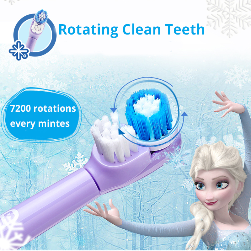 Oral B Electric Toothbrush for Children Magic Timer Gentle Oral Clean Rotary Vibration Soft Bristle Battery Powered Tooth Brush