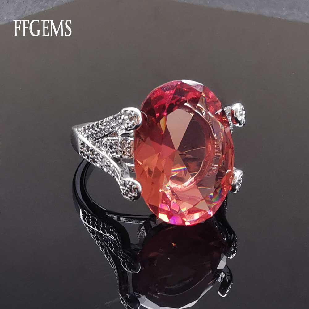 Купить женские кольца из стерлингового серебра 925 пробы ffgems с большим