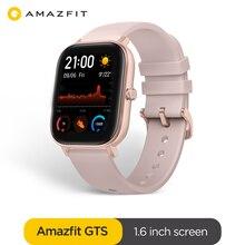 Versão global amazfit gts relógio inteligente 5atm à prova dlong água smartwatch longa bateria gps controle de música pulseira de silicone couro