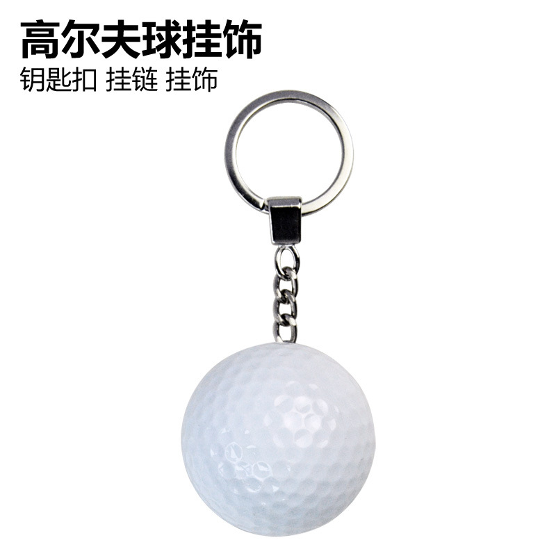 New Style Golf Fans Supplies Golf Keychain Lanyard Hanging Decoration