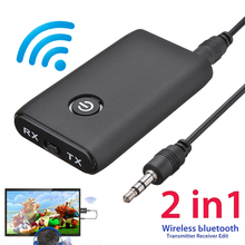3.5mm Wireless bluetooth Transmitter&Receiver Adapter A2DP Audio Jack Aux for PC TV Car 3.5mm AUX Music Receiver Sender Adapter
