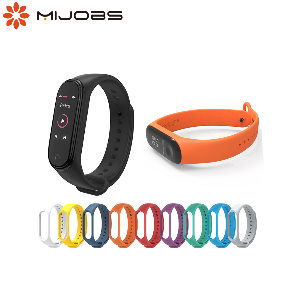 Mijobs <font><b>Bracelet</b></font> for <font><b>Mi</b></font> <font><b>band</b></font> <font><b>3</b></font> <font><b>Strap</b></font> <font><b>Silicone</b></font> Wrist <font><b>strap</b></font> for Xiaomi <font><b>Mi</b></font> <font><b>band</b></font> <font><b>3</b></font> <font><b>Bracelet</b></font> Watch <font><b>Wristband</b></font> Correa <font><b>Mi</b></font> <font><b>band</b></font> <font><b>4</b></font> <font><b>strap</b></font> image