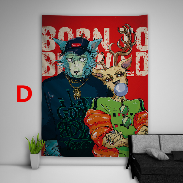 Beastars Tapestry Art Wall Hanging Cover Home Decor